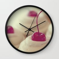 cupcake Wall Clocks featuring cupcake by Life Through the Lens