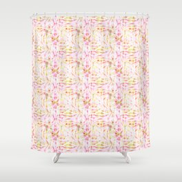 Summer Vibes Tie Dye in Bouquet Shower Curtain