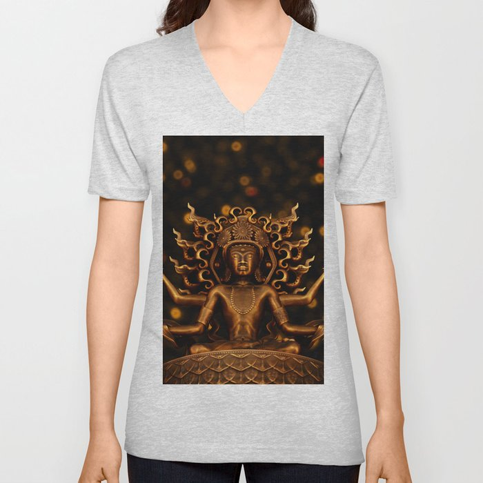 Tibetan Buddha 1 Unisex V-Neck