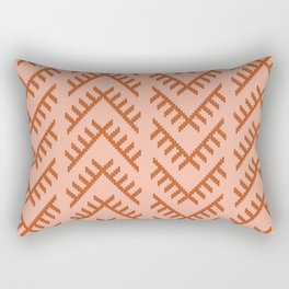 Stitched Arrows in Coral Rectangular Pillow