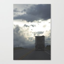 Trucking Down The Road Canvas Print