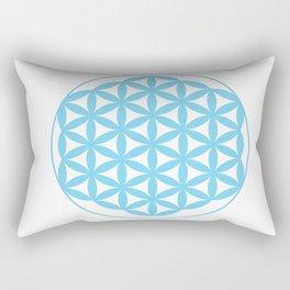 Blue Flower of Life Rectangular Pillow