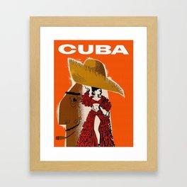 Vintage Travel Ad Cuba Framed Art Print