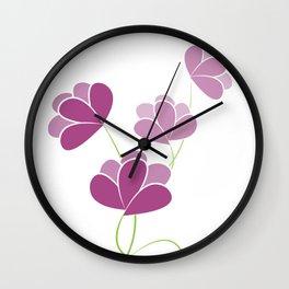 Flowers drawing Wall Clock