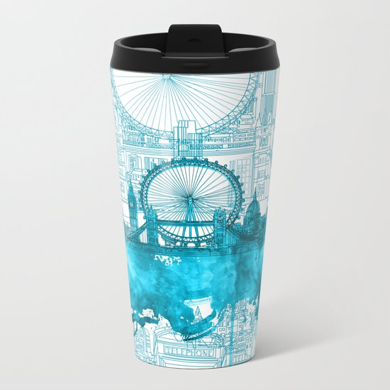 London Metal Travel Mug