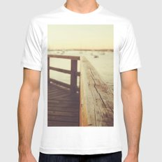 Waiting for the sunset White MEDIUM Mens Fitted Tee