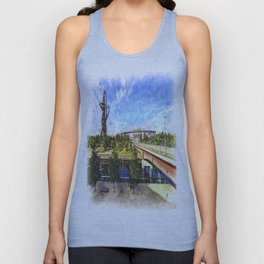 West Ham Olympic Stadium And The Arcelormittal Orbit Art Unisex Tank Top