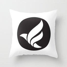 LFN b&w logo Throw Pillow