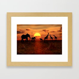 Savanne 2 Framed Art Print