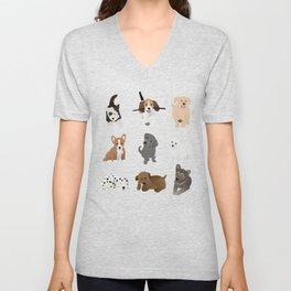 puppies pattern Unisex V-Neck