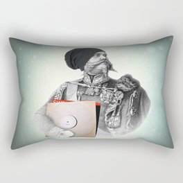 """Hipster 1 """"What this band? Yea I was into them before they where cool."""" Rectangular Pillow"""