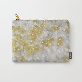 Sparkle Golden Beads Carry-All Pouch