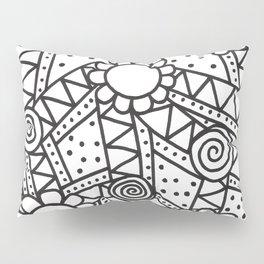 Doodle Art Flowers - Pathways that Connect 1 Pillow Sham