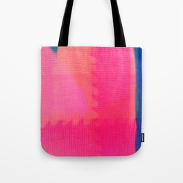 Art abstract pink blue Tote Bag