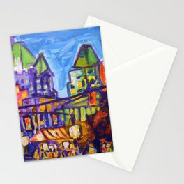 Shopping on Robson, Vancouver Stationery Cards