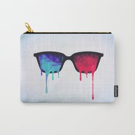 3D Psychedelic / Goa Meditation Glasses (low poly) Carry-All Pouch