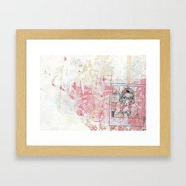 Sausage Polaroid Framed Art Print
