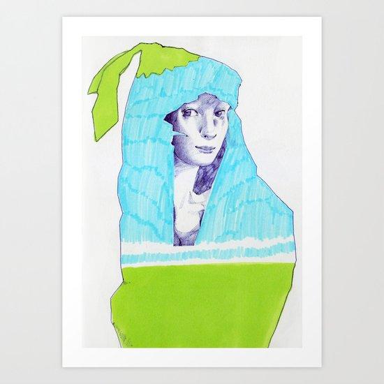 A Traveler  Art Print
