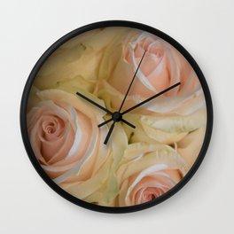 Wedding Roses Wall Clock