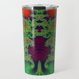 Psychedelic Centrepiece - Mirrored Fractal Art Travel Mug