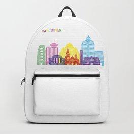 Vancouver skyline pop Backpack