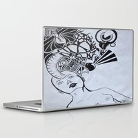 third eye Laptop & iPad Skins featuring Third Eye by Biancasigns