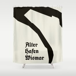 Wismar Alter Hafen Antiqua Shower Curtain