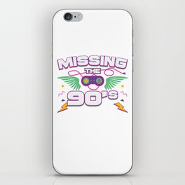 I Love 90s Nineties Fancy Dress Theme Party Gift iPhone Skin