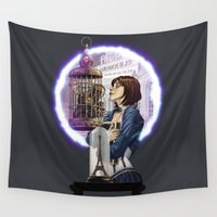 bioshock Wall Tapestries featuring Bioshock Infinite: Freedom  by Daydreams and Giggles Studios