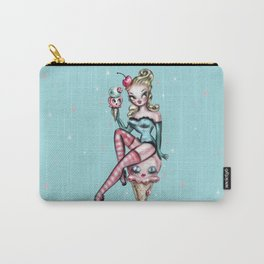 Ice Cream Pin Up Doll Carry-All Pouch