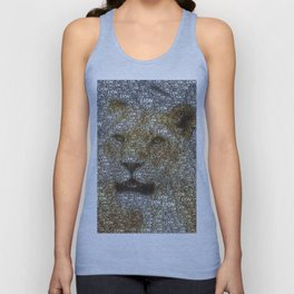 WordArt Lion Unisex Tank Top