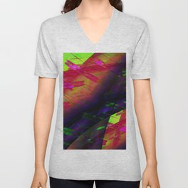 Abstract 11 Unisex V-Neck