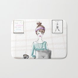 Busy Blogger Bath Mat