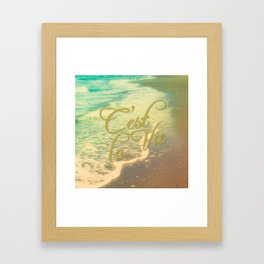 Beach Waves I - C'est La Vie Framed Art Print