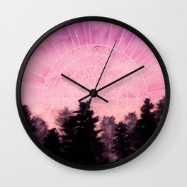 Sunrise Mandala Watercolor Wall Clock