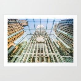 Big Apple in the Big Apple Art Print