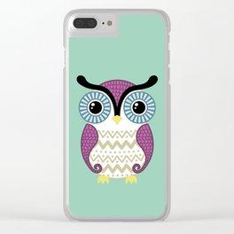 Cute owl Clear iPhone Case