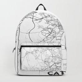 Minimal City Maps - Map Of Catania, Italy. Backpack