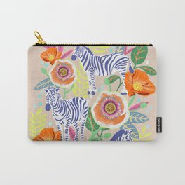 Zebra Idea, zebra print, animal print, flower print 2 Carry-All Pouch