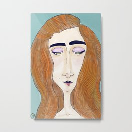 Red Hair Metal Print