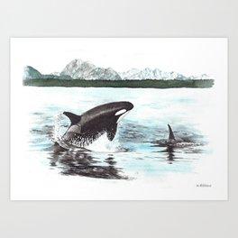 Orca's Art Print