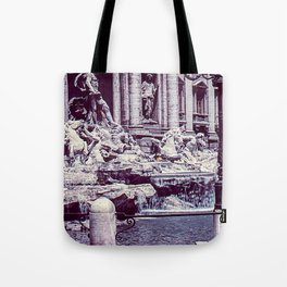 Vintage Photo * 1940's * Fontana di Trevi * Trevi Fountain * Rome * Italy Tote Bag