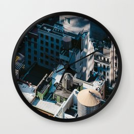 New York sky view Wall Clock