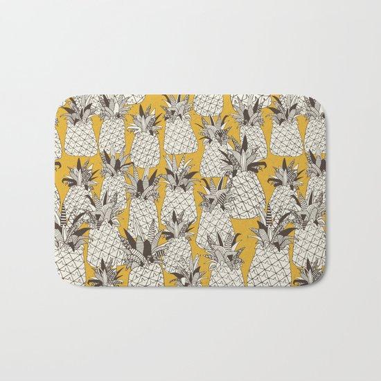 pineapple sunshine yellow Bath Mat