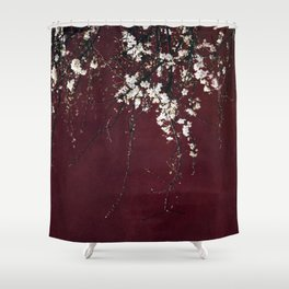 blossoms on ruby red Shower Curtain
