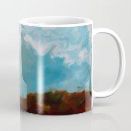 Cypress Trees encaustic wax painting by Seasons Kaz Sparks Coffee Mug