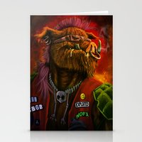 bebop Stationery Cards featuring BeBop by Andre Beja