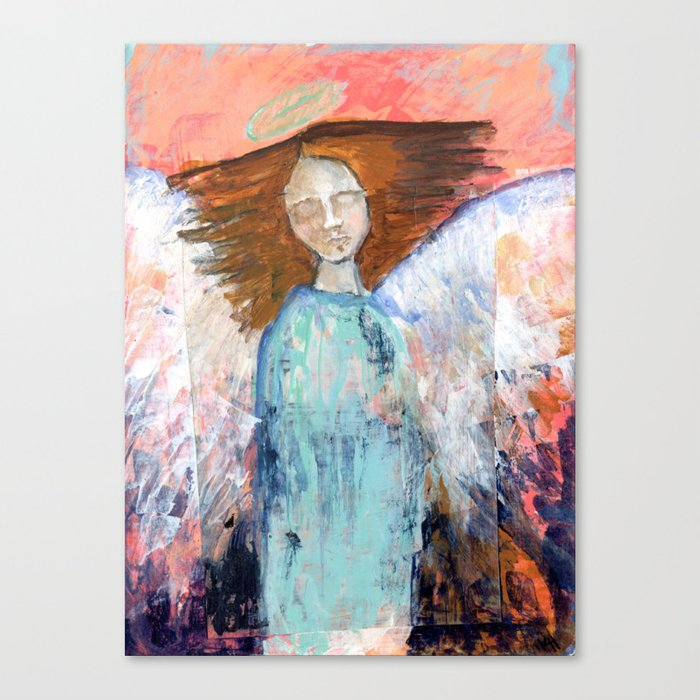 Spring Angel {1} Canvas Print