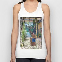bicycles Tank Tops featuring bicycles and mural by lennyfdzz