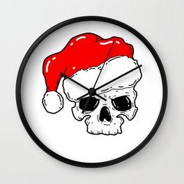 Skull Christmas Wall Clock